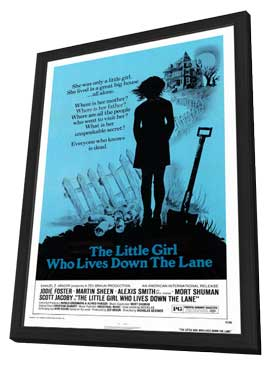 The Little Girl Who Lives down the Lane - 11 x 17 Movie Poster - Style A - in Deluxe Wood Frame