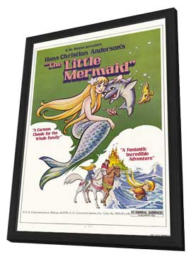The Little Mermaid - 11 x 17 Movie Poster - Style A - in Deluxe Wood Frame