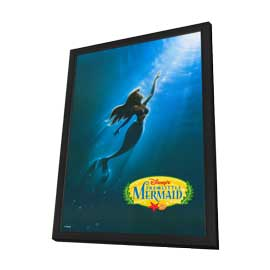 Little Mermaid, The - 27 x 40 Movie Poster - Style C - in Deluxe Wood Frame