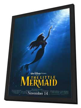 Little Mermaid, The - 27 x 40 Movie Poster - Style A - in Deluxe Wood Frame