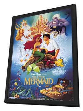 Little Mermaid, The - 27 x 40 Movie Poster - Style D - in Deluxe Wood Frame