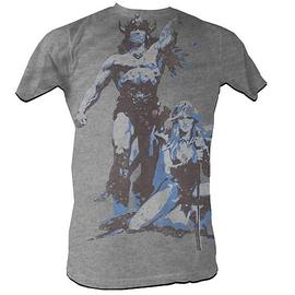 The Little Rascals - Conan the Barbarian Conan Vintage Gray T-Shirt