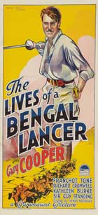 The Lives of a Bengal Lancer - 13 x 30 Movie Poster - Australian Style A