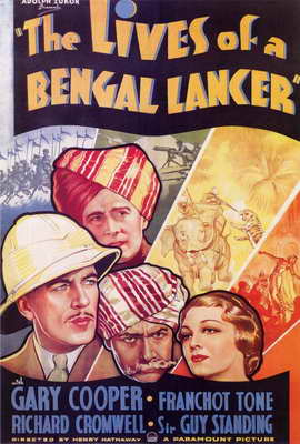 The Lives of a Bengal Lancer - 27 x 40 Movie Poster - Style A