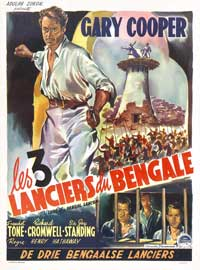 The Lives of a Bengal Lancer - 11 x 17 Movie Poster - Belgian Style A