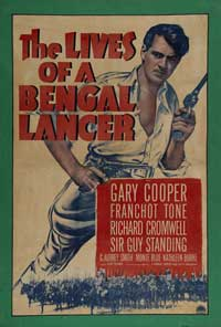 The Lives of a Bengal Lancer - 11 x 17 Movie Poster - Style E