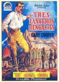 The Lives of a Bengal Lancer - 11 x 17 Movie Poster - Spanish Style B