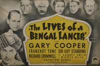 The Lives of a Bengal Lancer - 22 x 28 Movie Poster - Half Sheet Style A