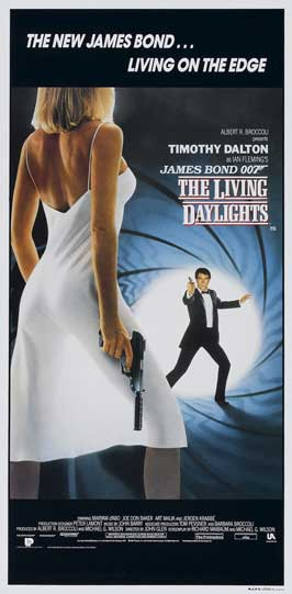 The Living Daylights - 13 x 30 Movie Poster - Australian Style B