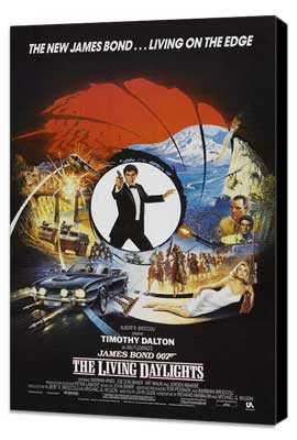 The Living Daylights - 27 x 40 Movie Poster - Style C - Museum Wrapped Canvas