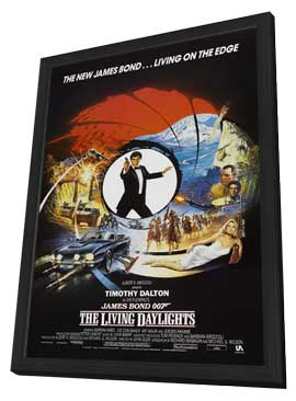The Living Daylights - 11 x 17 Movie Poster - Style D - in Deluxe Wood Frame