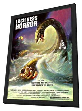 The Loch Ness Horror - 11 x 17 Movie Poster - Style A - in Deluxe Wood Frame