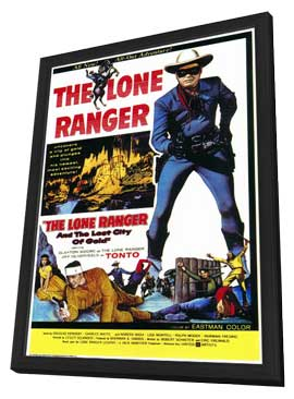 The Lone Ranger and the Lost City of Gold - 11 x 17 Movie Poster - Style A - in Deluxe Wood Frame