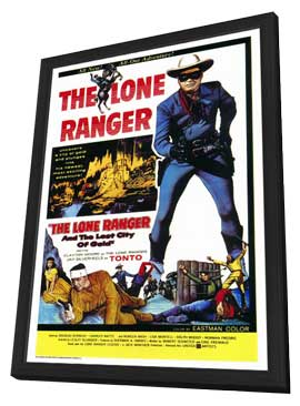 The Lone Ranger and the Lost City of Gold - 27 x 40 Movie Poster - Style A - in Deluxe Wood Frame