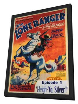 The Lone Ranger - 11 x 17 Movie Poster - Style C - in Deluxe Wood Frame