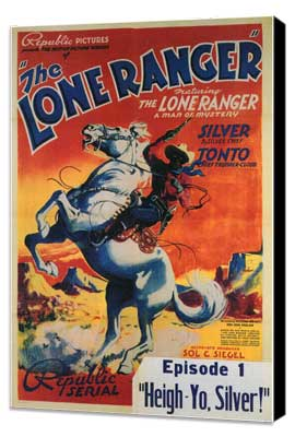 The Lone Ranger - 11 x 17 Movie Poster - Style C - Museum Wrapped Canvas