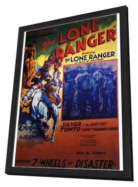 The Lone Ranger - 27 x 40 Movie Poster - Style B - in Deluxe Wood Frame