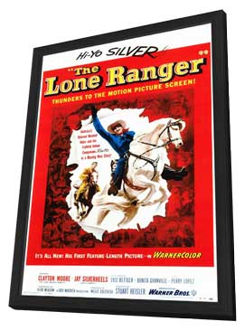 The Lone Ranger - 11 x 17 Movie Poster - Style A - in Deluxe Wood Frame