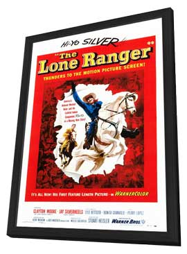 The Lone Ranger - 27 x 40 Movie Poster - Style A - in Deluxe Wood Frame