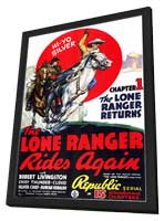 The Lone Ranger Rides Again - 11 x 17 Movie Poster - Style A - in Deluxe Wood Frame