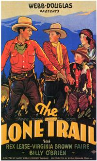 The Lone Trail - 27 x 40 Movie Poster - Style A