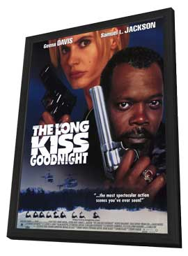 The Long Kiss Goodnight - 11 x 17 Movie Poster - Style A - in Deluxe Wood Frame