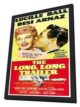 The Long, Long Trailer - 27 x 40 Movie Poster - Style B - in Deluxe Wood Frame