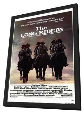 The Long Riders - 11 x 17 Movie Poster - Style A - in Deluxe Wood Frame