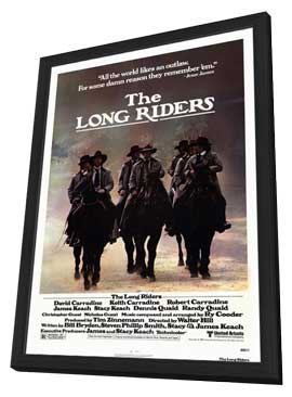 The Long Riders - 27 x 40 Movie Poster - Style A - in Deluxe Wood Frame