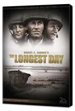 The Longest Day - 27 x 40 Movie Poster - Style B - Museum Wrapped Canvas