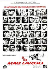 The Longest Day - 27 x 40 Movie Poster - Spanish Style A