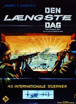 The Longest Day - 11 x 17 Movie Poster - Danish Style A