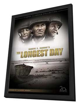 The Longest Day - 27 x 40 Movie Poster - Style B - in Deluxe Wood Frame