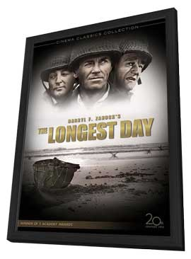 The Longest Day - 11 x 17 Movie Poster - Style C - in Deluxe Wood Frame