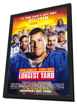 The Longest Yard - 27 x 40 Movie Poster - Style B - in Deluxe Wood Frame