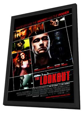 The Lookout - 27 x 40 Movie Poster - Style A - in Deluxe Wood Frame