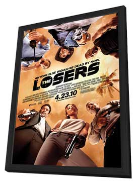 The Losers - 27 x 40 Movie Poster - Style A - in Deluxe Wood Frame