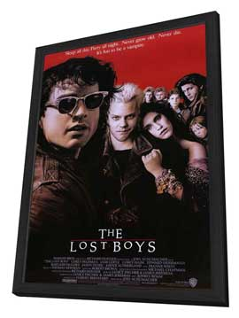 The Lost Boys - 11 x 17 Movie Poster - Style A - in Deluxe Wood Frame