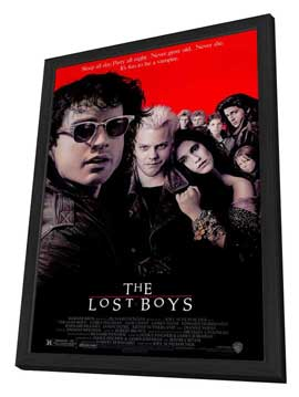 The Lost Boys - 27 x 40 Movie Poster - Style A - in Deluxe Wood Frame