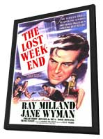 The Lost Weekend - 11 x 17 Movie Poster - Style A - in Deluxe Wood Frame