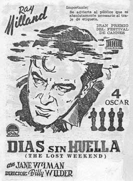 The Lost Weekend - 11 x 17 Movie Poster - Spanish Style A