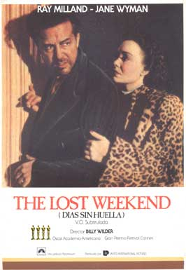 The Lost Weekend - 11 x 17 Movie Poster - Spanish Style B