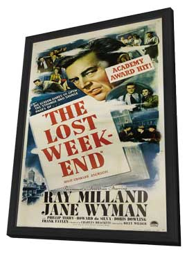 The Lost Weekend - 27 x 40 Movie Poster - Style B - in Deluxe Wood Frame