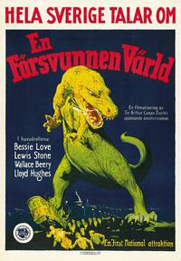The Lost World - 27 x 40 Movie Poster - Swedish Style A