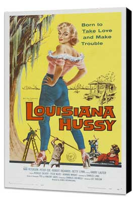 The Louisiana Hussy - 27 x 40 Movie Poster - Style A - Museum Wrapped Canvas
