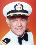 The Love Boat - Love Boat in Navy Uniform with Red Background