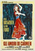 The Loves of Carmen - 27 x 40 Movie Poster - Italian Style E