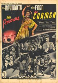 The Loves of Carmen - 11 x 17 Movie Poster - French Style A
