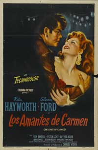 The Loves of Carmen - 27 x 40 Movie Poster - Spanish Style A