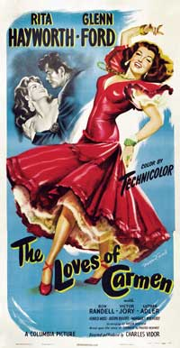 The Loves of Carmen - 20 x 40 Movie Poster - Style A